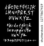vector fonts   handwritten... | Shutterstock .eps vector #1277867419