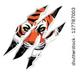 tiger claw mark | Shutterstock .eps vector #127787003