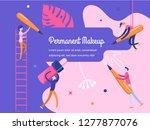 permanent makeup. the scene... | Shutterstock .eps vector #1277877076