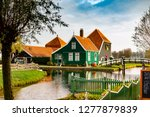 old dutch houses in old dutch... | Shutterstock . vector #1277879839