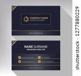 business model name card luxury ... | Shutterstock .eps vector #1277880229