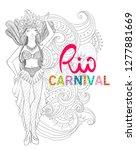 brazil carnival. vector... | Shutterstock .eps vector #1277881669