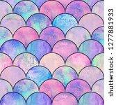 mermaid fish scale wave... | Shutterstock . vector #1277881933