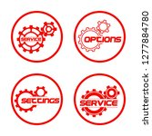 set service icons image of...   Shutterstock .eps vector #1277884780