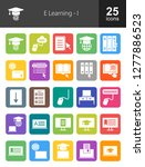 e learning filled icons | Shutterstock .eps vector #1277886523