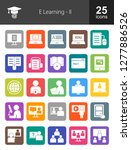 e learning filled icons | Shutterstock .eps vector #1277886526