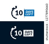 10 days left sign   emblem ...