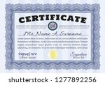 blue certificate of achievement ... | Shutterstock .eps vector #1277892256