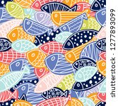 colorful fish. seamless pattern ... | Shutterstock .eps vector #1277893099