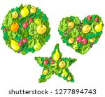 set illustration with... | Shutterstock .eps vector #1277894743