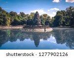 neak pean  is an artificial... | Shutterstock . vector #1277902126