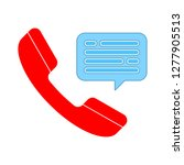 telephone icon  telephone call... | Shutterstock .eps vector #1277905513
