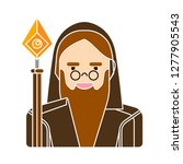 wizard man icon   wise logo... | Shutterstock .eps vector #1277905543