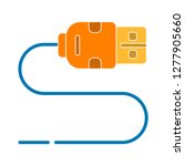 usb cable icon  usb cable... | Shutterstock .eps vector #1277905660