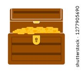 treasure icon  treasure box... | Shutterstock .eps vector #1277905690