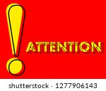 danger warning attention or... | Shutterstock .eps vector #1277906143
