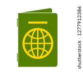 passport icon   passport... | Shutterstock .eps vector #1277912386