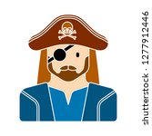 pirate caracter icon   pirate... | Shutterstock .eps vector #1277912446