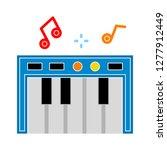 piano icon   piano  isolate  ... | Shutterstock .eps vector #1277912449