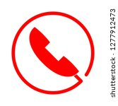 phone cancellation icon   phone ... | Shutterstock .eps vector #1277912473