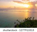 an aerial view of muri lagoon... | Shutterstock . vector #1277913313