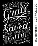 hand lettering for by grace you ... | Shutterstock .eps vector #1277921320
