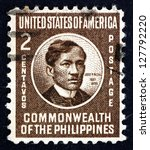 Small photo of PHILIPPINES - CIRCA 1946: a stamp printed in Philippines shows Jose Rizal, National Hero, Nationalist and Reformist, circa 1946