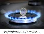 burning natural gas and one... | Shutterstock . vector #1277923270