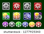 casino chips vector isolated on ...