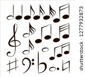 or musical notes.  or... | Shutterstock . vector #1277932873