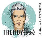or man model hipster. trendy... | Shutterstock . vector #1277932900