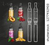 or color sketchset e cigarette ... | Shutterstock . vector #1277932903