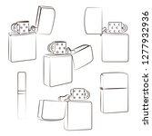 metal windproof lighter....   Shutterstock . vector #1277932936