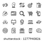 marketing  research icons. set... | Shutterstock .eps vector #1277940826