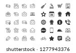 mail messages line icons. set... | Shutterstock .eps vector #1277943376
