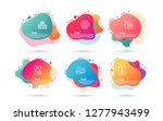 dynamic liquid shapes. set of... | Shutterstock .eps vector #1277943499