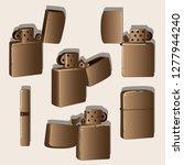 metal windproof lighter....   Shutterstock . vector #1277944240