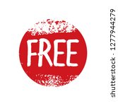 text free and red  grunge stamp.... | Shutterstock .eps vector #1277944279