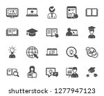 education icons. laptop  book... | Shutterstock .eps vector #1277947123
