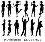 male and female silhouettes ... | Shutterstock .eps vector #1277947573