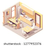 vector isometric corporate... | Shutterstock .eps vector #1277952376
