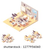 vector isometric corporate... | Shutterstock .eps vector #1277956060