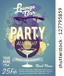 lounge bar party poster | Shutterstock .eps vector #127795859