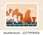 ship  yacht or sea vessel...   Shutterstock .eps vector #1277959456