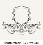 antique luxury high ornate... | Shutterstock .eps vector #127796033