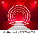 stage podium with lighting ... | Shutterstock .eps vector #1277964253
