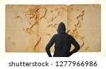male figure from back with... | Shutterstock . vector #1277966986