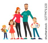 happy young family. dad  mom ... | Shutterstock .eps vector #1277971123