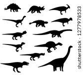 dinosaurs silhouette set.... | Shutterstock .eps vector #1277978533