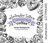 lavender latte illustration ... | Shutterstock .eps vector #1277996350